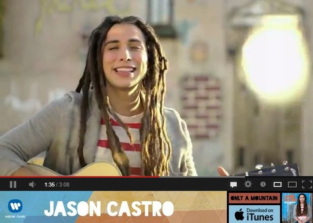 Jason Castro – Only A Mountain (Official Music Video) and lyrics