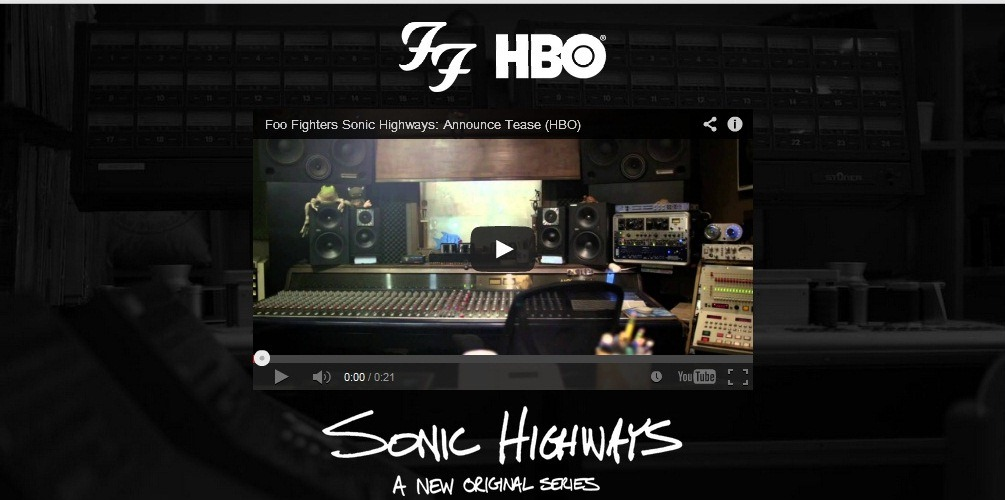 "Dave Grohl's New Music Series – ""Sonic Highways"" Trailer"
