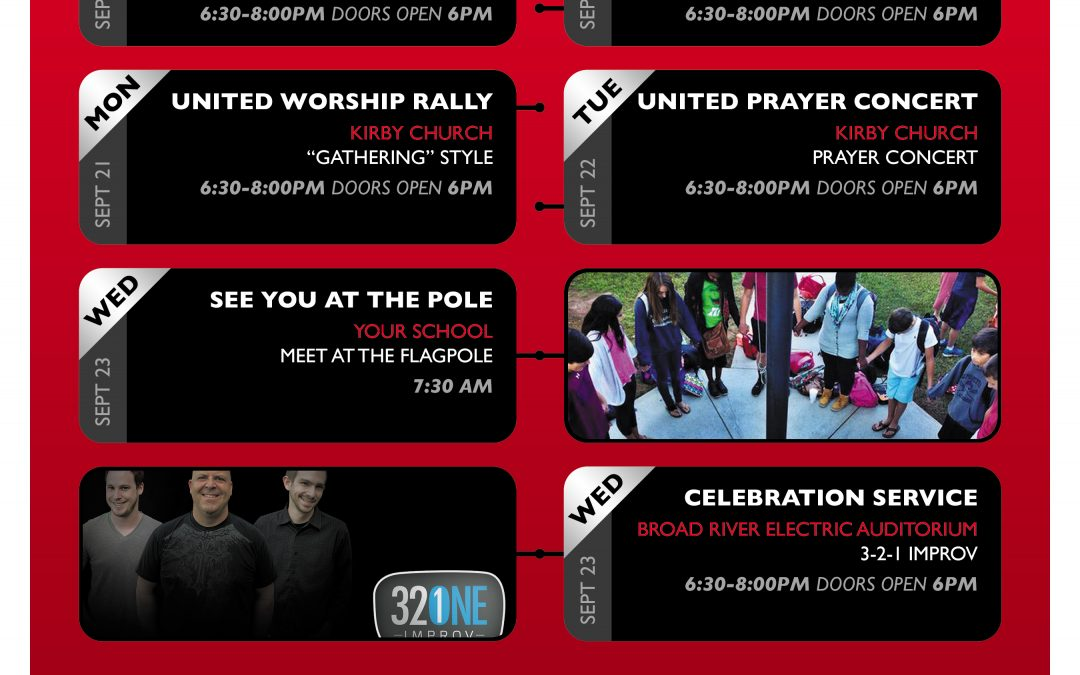 See You at the Pole Sept 20-23 2015 Information