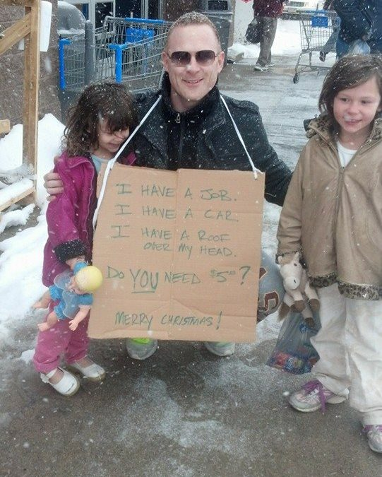 Mystery Man's Cardboard Response to Stolen Salvation Army Kettle