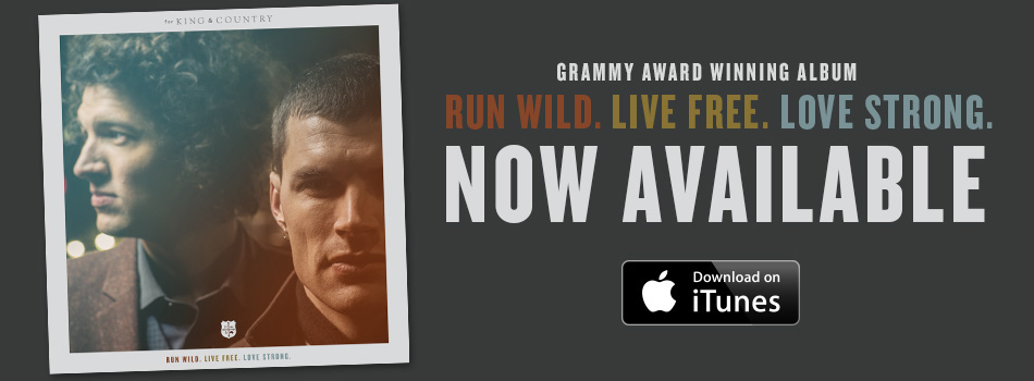 """For King & Country – """"Run Wild"""" Live Performance Video"""